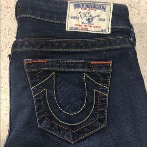 True religion dark skinny jeans